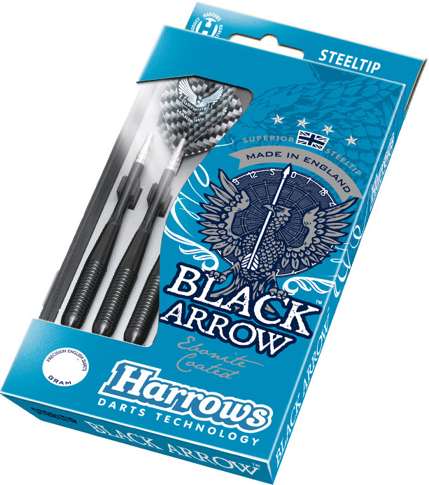 Šípky Harrows-STEELTIP BLACK ARROWS 21 gram