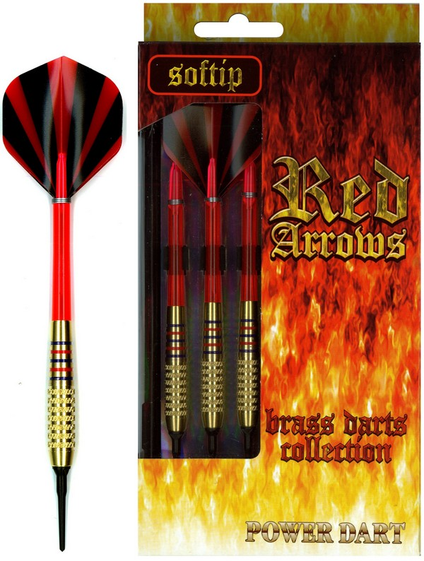Šipky Powerdart  RED ARROWS BRASS 16 GRAM