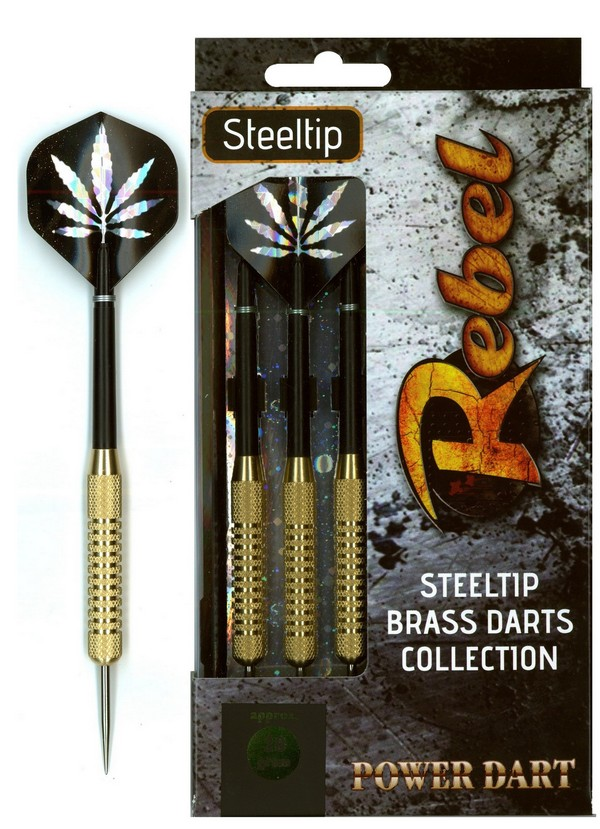 Šipky Powerdart  STEEL REBEL 21 gr. BRASS